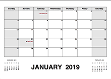 Printable 2019 Indian Calendar Templates With Holidays