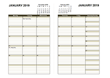 2019 Diary Planner Template
