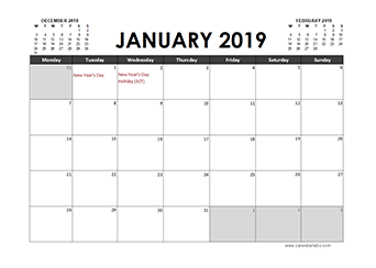 Printable 2019 Uk Calendar Templates With Holidays