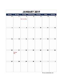 Singapore calendar 2019 Public holidays