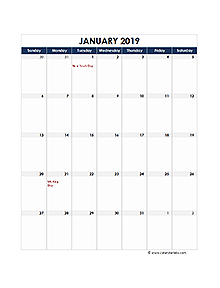 2019 Excel Calendar - Download FREE Printable Excel Templates