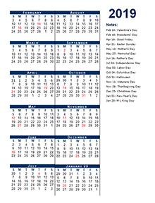 2019 Fiscal Period Calendar 4-4-5