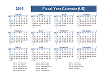 2019 Fiscal Planner USA