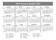 2019 USA Fiscal Quarter Calendar