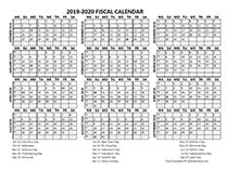 Fiscal Calendar 2019-20 templates