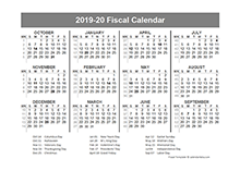 2019 fiscal year quarters template free printable templates