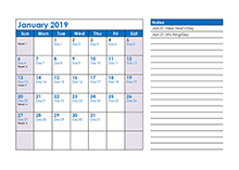 2019 monthly julian calendar03