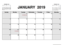 Free Printable Pdf Calendar Download Monthly Yearly 2019 Pdf