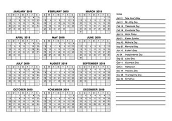 Free 2019 Pdf Calendar Templates Download Printable Calendar Pdf