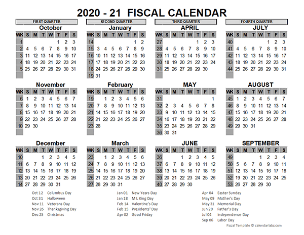 2020 US Fiscal Year Template