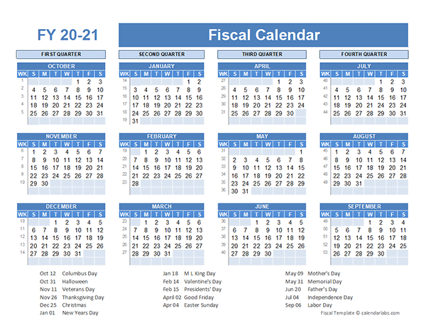 Fiscal Planner Template 2020