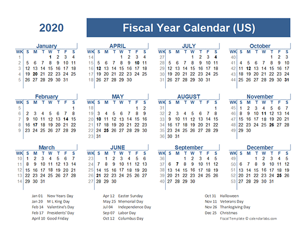 2020 Fiscal Planner USA