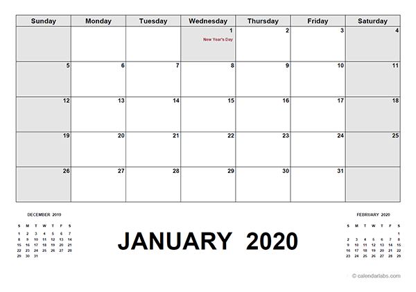 2020 Calendar with UAE Holidays PDF