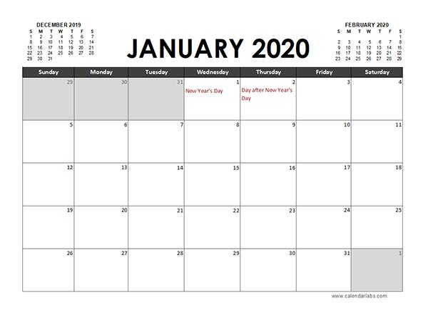2020 excel calendar planner new zealand