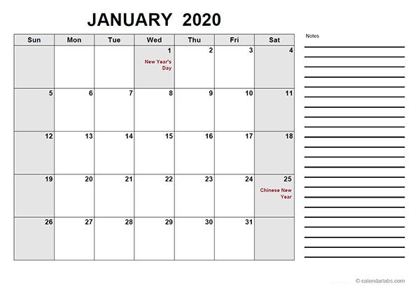 2020 Indonesia Free Calendar Pdf Template Free Printable Templates