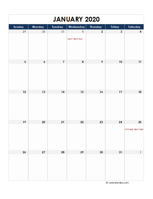 2020 Indonesia Monthly Excel Calendar - Free Printable ...