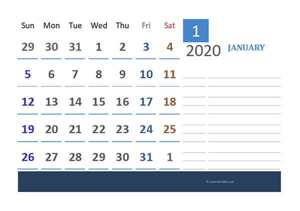 2020 Pakistan Calendar for Vacation Tracking