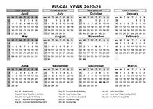 2020-2021 Fiscal Calendar UK Template