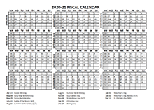 2020 Fiscal Calendar Template Starts at April