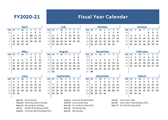 Printable 2020 Calendar By Month.Printable 2020 Fiscal Year Calendar Template Calendarlabs