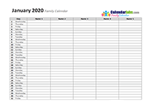 2020 Monthly Planner Template