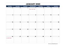 2020 Australia Calendar Spreadsheet Template