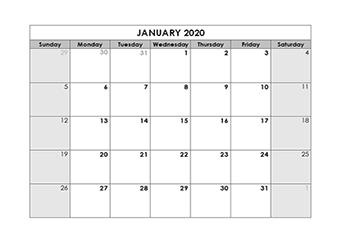 Blank Monthly Calendar Template Blank Calendar 2020 Template – Free Printable Blank Monthly Calendars