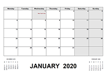 2020 Calendar with Ireland Holidays PDF