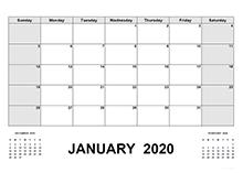 2020 Calendar with Pakistan Holidays PDF