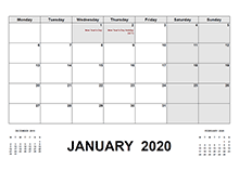 2020 Calendar with UK Holidays PDF