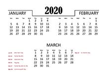 2020 excel quarterly calendar pdf