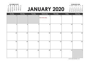 2020 Calendar Planner Canada holidays