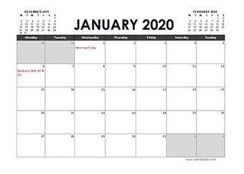 2020 Calendar Planner Germany holidays