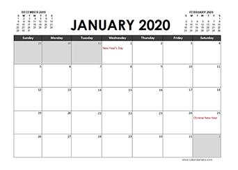 2020 Calendar Planner Indonesia holidays