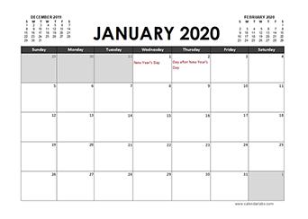 2020 Calendar Planner New Zealand holidays