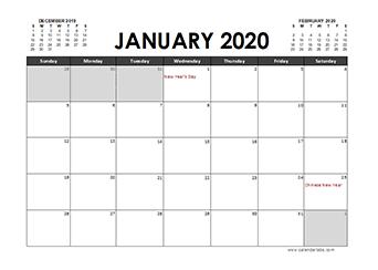 2020 Calendar Planner Philippines holidays