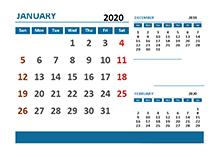 2020 Excel Calendar with Pakistan Holidays