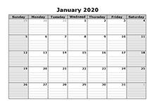 2020 Free Blank Calendar