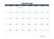 2020 calendar Germany spreadsheet template