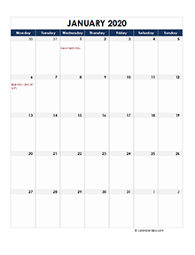 Germany calendar 2020 Public holidays