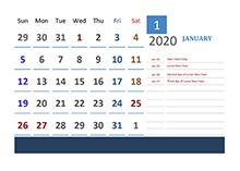 2020 Hong Kong Calendar Vacation Tracking