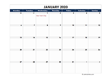 2020 calendar Ireland spreadsheet template
