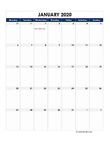 Ireland calendar 2020 Public holidays