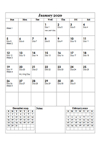 2020 monthly julian calendar01