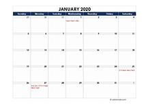 2020 calendar Malaysia spreadsheet template