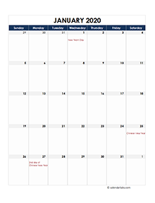 Malaysia calendar 2020 Public holidays