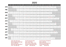 2020 project timeline calendar template for malaysia
