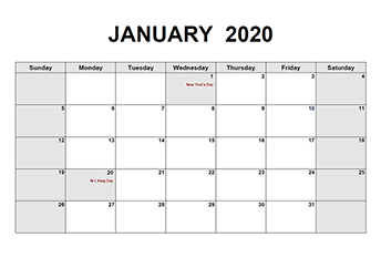 Free Printable Pdf Calendar Download Monthly Yearly 2020 Pdf Calendar