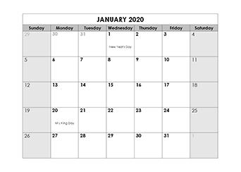 Calendar Uf Fall 2020.Printable 2020 Calendar