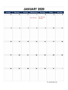 New Zealand calendar 2020 Public holidays